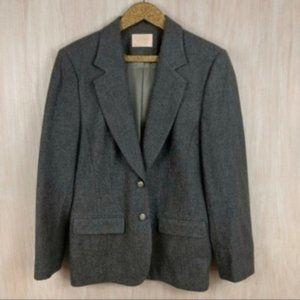 Pendleton Vintage 70's Wool Gray Blazer Jacket